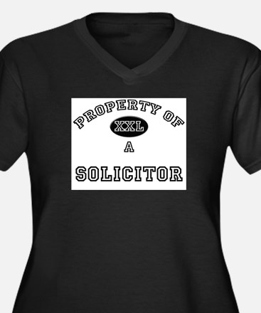 Property of a Solicitor Women's Plus Size V-Neck D