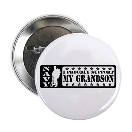 Proudly Support Grandson - NAVY Button