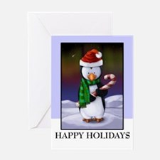 Christmas Holiday Penguin Greeting Card