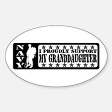 Proudly Support Grnddghtr - NAVY Oval Decal