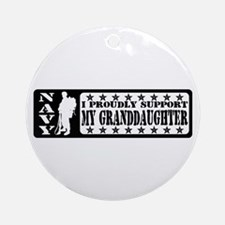 Proudly Support Grnddghtr - NAVY Ornament (Round)
