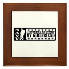 Proudly Support GF - NAVY Framed Tile