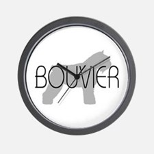 Bouvier Dog Wall Clock