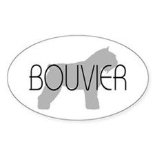 Bouvier Dog Oval Decal