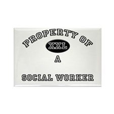 Property of a Social Worker Rectangle Magnet