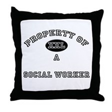 Property of a Social Worker Throw Pillow