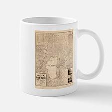 Vintage Map of Lake Tahoe Calfornia (1874) Mugs