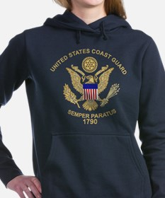 uscg_flg_d3.png Women's Hooded Sweatshirt