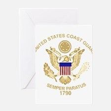 uscg_flg_d3 Greeting Cards