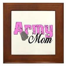 Army Mom Framed Tile
