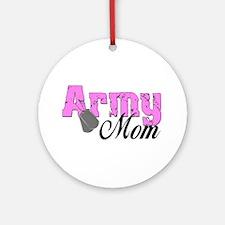 Army Mom Ornament (Round)