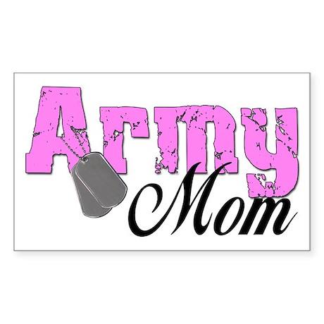 Army Mom Rectangle Sticker