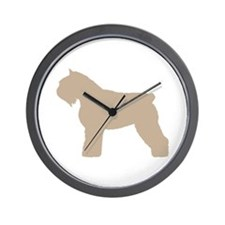 Fawn Bouvier Des Flandres Wall Clock