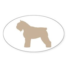 Fawn Bouvier Des Flandres Oval Decal