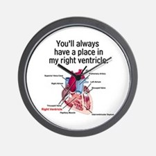 My Right Ventricle Wall Clock