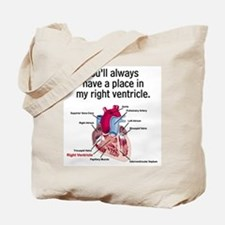 My Right Ventricle Tote Bag