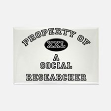 Property of a Social Researcher Rectangle Magnet