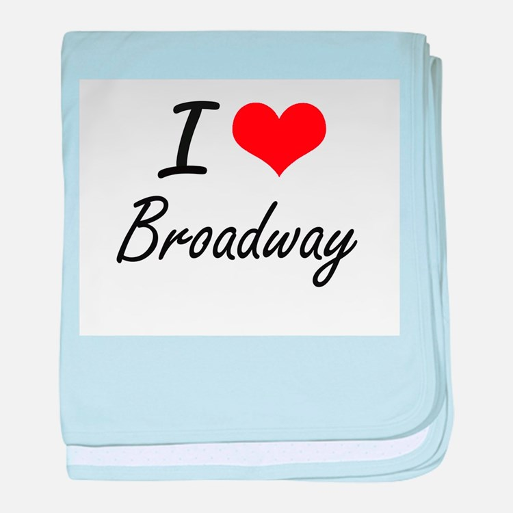 I love Broadway New Jersey artistic baby blanket