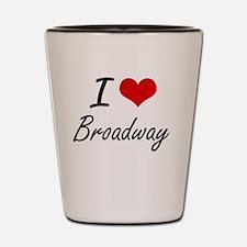 I love Broadway New Jersey artistic de Shot Glass