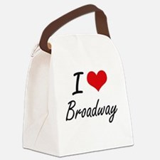 I love Broadway New Jersey artis Canvas Lunch Bag