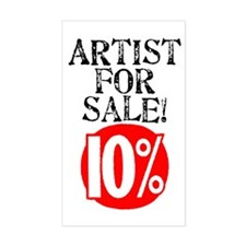 Artist For Sale Rectangle Decal