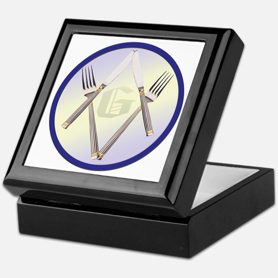 Masonic Knife and Fork Degree Keepsake Box
