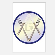 Masonic Knife and Fork Degree Postcards (Package o