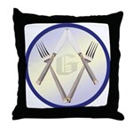 Masonic Knife and Fork Degree Throw Pillow