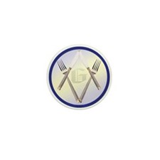 Masonic Knife and Fork Degree Mini Button (10 pack