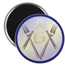 """Masonic Knife and Fork Degree 2.25"""" Magnet (10 pac"""