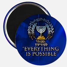 Mossad Round Magnet