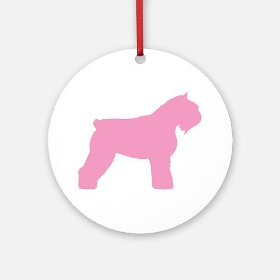 Pink Bouvier Des Flandres Ornament (Round)