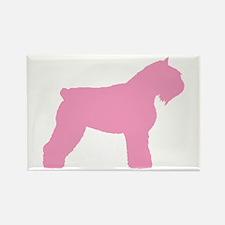 Pink Bouvier Des Flandres Rectangle Magnet (10 pac