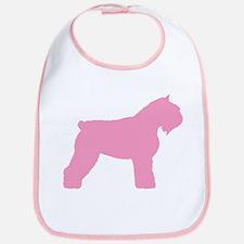 Pink Bouvier Des Flandres Bib