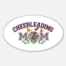 Cheerleading Mom Oval Decal