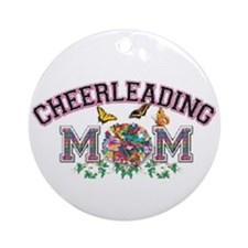 Cheerleading Mom Ornament (Round)