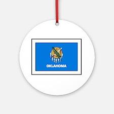 Oklahoma Round Ornament