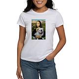 Bulldog mona lisa Women's T-Shirt