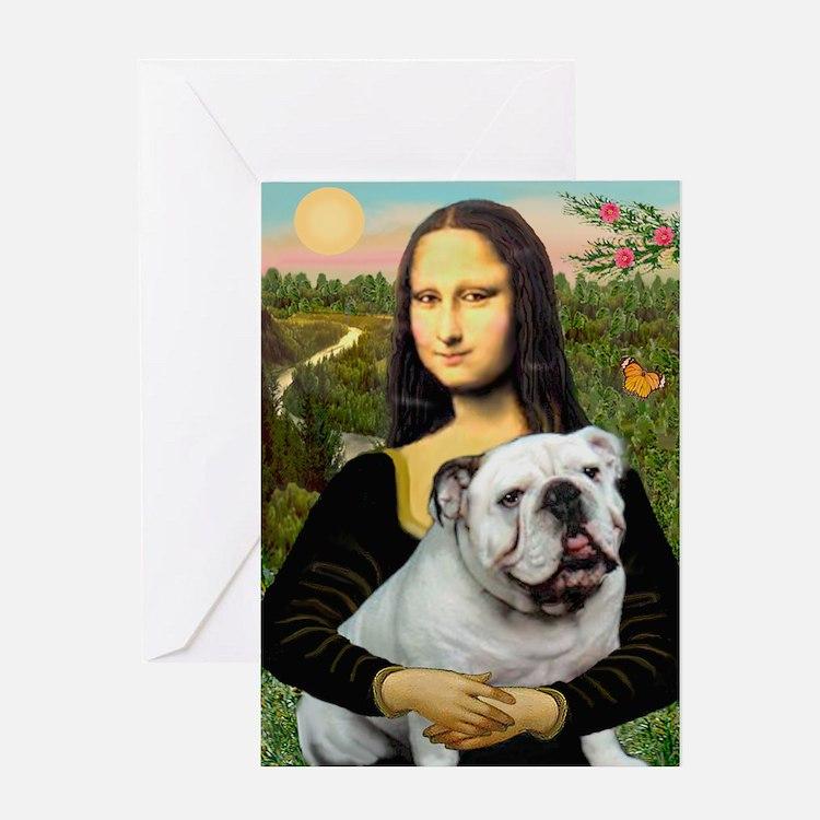 Mona's English Bulldog Greeting Card