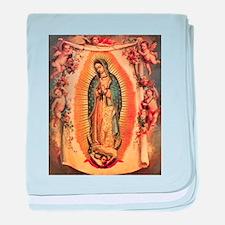 Virgin Of Guadalupe baby blanket
