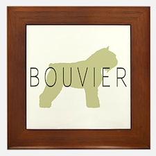 Bouvier Dog Sage w/ Text Framed Tile