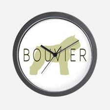 Bouvier Dog Sage w/ Text Wall Clock