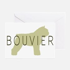 Bouvier Dog Sage w/ Text Greeting Cards (Pk of 10)