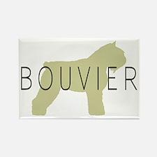 Bouvier Dog Sage w/ Text Rectangle Magnet