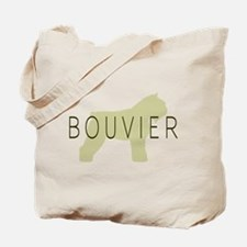 Bouvier Dog Sage w/ Text Tote Bag