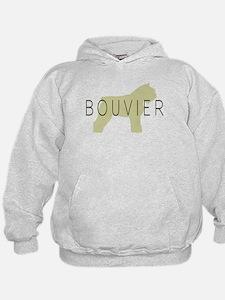 Bouvier Dog Sage w/ Text Hoodie