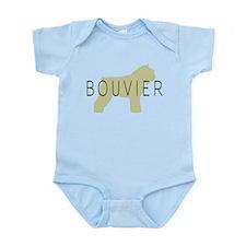 Bouvier Dog Sage w/ Text Infant Bodysuit