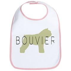 Bouvier Dog Sage w/ Text Bib