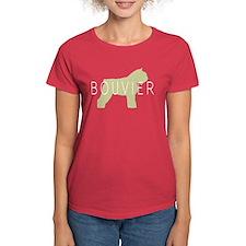 Bouvier Dog Sage w/ Text Tee
