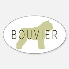 Bouvier Dog Sage w/ Text Oval Decal
